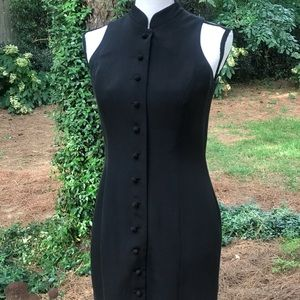 Ann Taylor Mandarin collar silk cocktail dress